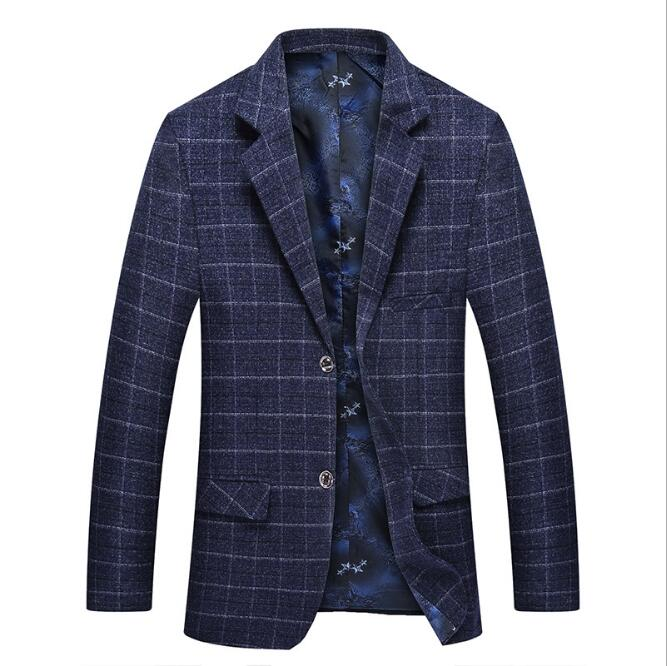 sh20198a new woven plaid business men 's suits casual suit jacket