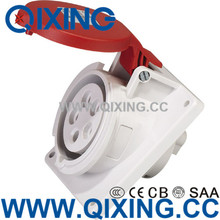 IP44 CEE 32A 4P 6H 400V Red Industrial Electrical Angle Sockets