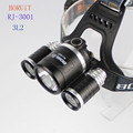 BORUIT RJ-3001 3xCREE XM-L2 5800 Lumens 4-Mode USB Rechargeable LED Headlamp (2x18650)
