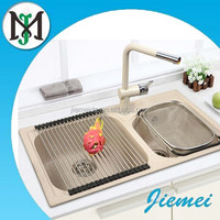 JM208 bathroom/ Kitchen composite granite double sink with low price