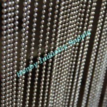 Outdoor Nouble Silver Plated Metal Beaded Door Curtain