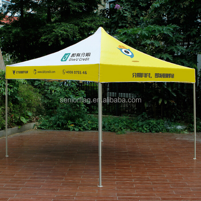 custom printed outdoor ez up folding pop up beach canopy tent