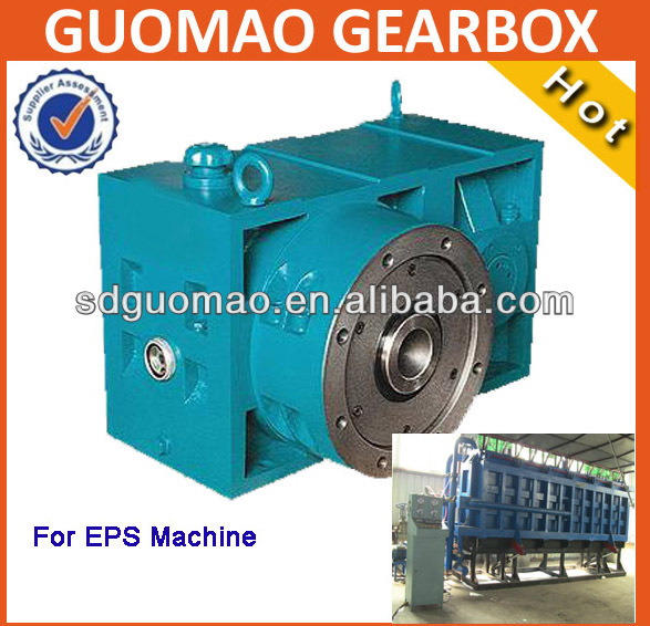 China Guomao plastic single screw ZLYJ250 plastic extruder reducer mechanism gear