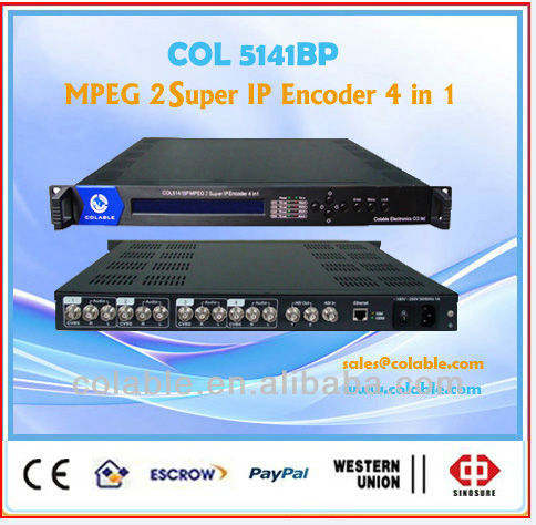 Lowest Price but Good Quality for MPEG2/MPEG4 IP Encoder (4 in1), CATV Headend COL5141BP