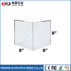 8 x 8 x 8 Clear Acrylic 5 Sided Display Cubes