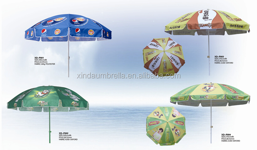 180cm*8k Portable Promotional Outdoor Windproof Beach Umbrella XD-VU002