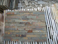 Hotel decorative stone wall rusty rough slate wall tile