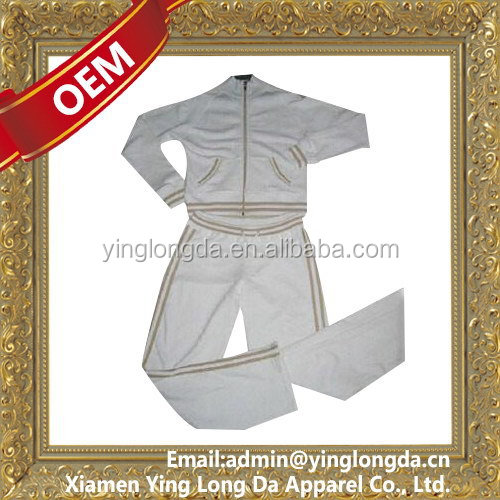 Cheap crazy Selling girl warm up jogging suit