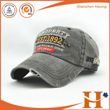 Custom High Quality 3D Embroidery stone washed baseball cap and hat,Embroidered washed sports cap torn