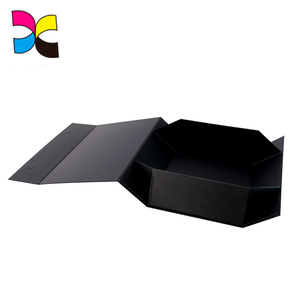 Custom Design Paperboard Embossing Durable Collapsible Rigid Paper Box