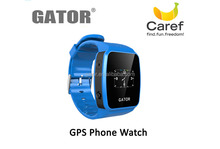 WIFI /LBS location high quality wrist watch gps tracking smart watch mobile phone device for kids -caref watch