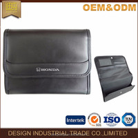 2016 China bag factory PU leather business travel car document holder bag/ bag for car manual documents
