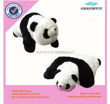 Custom plush stuffed panda sheep frog and bee shaped baby support pillow for gift