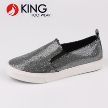 China wholesale women glitter loafer shoes