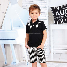 Latest stylish designer kids clothing wholesale polo t shirts for boys in China