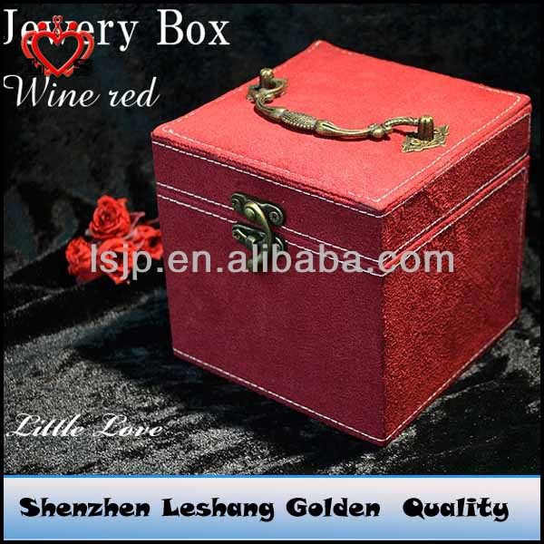 Fashion and classical flannel jewelry box&jewelry box for pandora beads