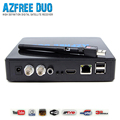2016 Most popular AZFREE DUO TV south America digital satellite receiver with IKS+SKS free