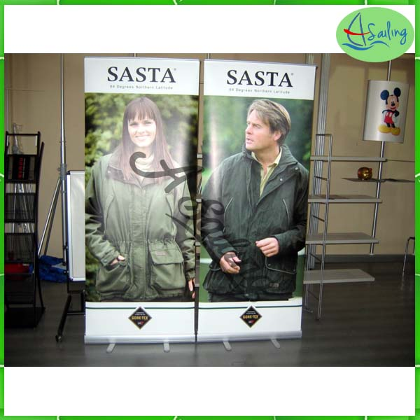 retractable display banner printing ,roll up horizontal banner stand