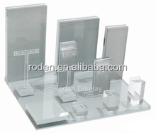 Clear Plexiglass Retail Counter Display Design Acrylic Jewelry Display