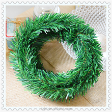 Wholesale Artificial Christmas Tree Grass Garland Flexible DIY Christmas Green PVC Garland For Christmas Decorating