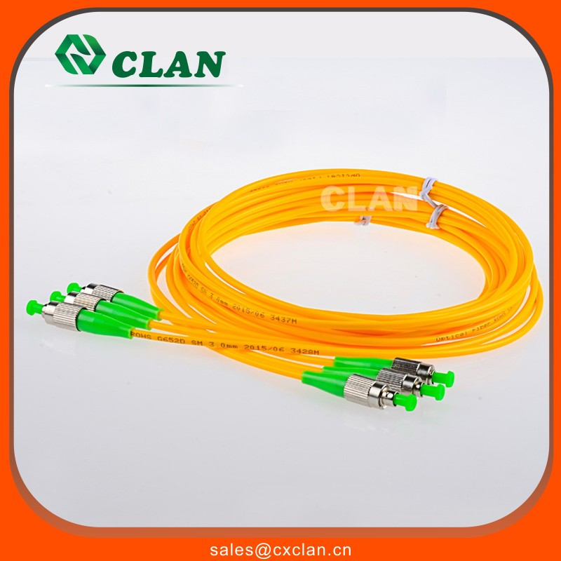 FC/APC-FC/APC Singlemode Simplex Fiber Optic Patchcord Or Jumper Cable