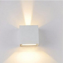 Free shipping by DHL Waterproof Aluminum Square white/black wall sconce lights ,7w, warm white wholesale