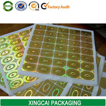 Gold PET Material and Adhesive Sticker Type anti radiation sticker