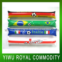 2014 World Cup Inflatable Cheering Plastic Thunder Sticks
