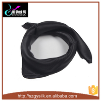 black color polyester satin scarf
