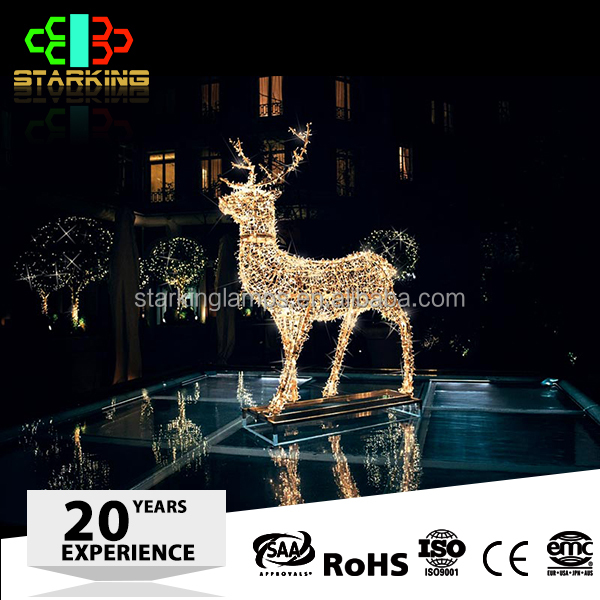 3D deer with motor LED Motif Light indoor & outdoor decoration