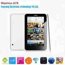 7'' Washion GSM A7S Multi Touch Screen Allwinner A13 1.2GHz Phone Call Tablet with SIM Card slot Wifi dual camera