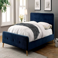 Most Popular simple assembly home bedroom furniture with buttons fabric bed