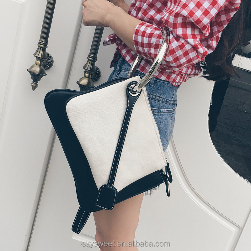 black white ring bags, ladies imported handbags china(SWTJU1868)