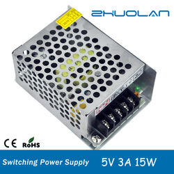 Wholesalers china dc 5v 3a 15w led switching power supply with CE Rohs