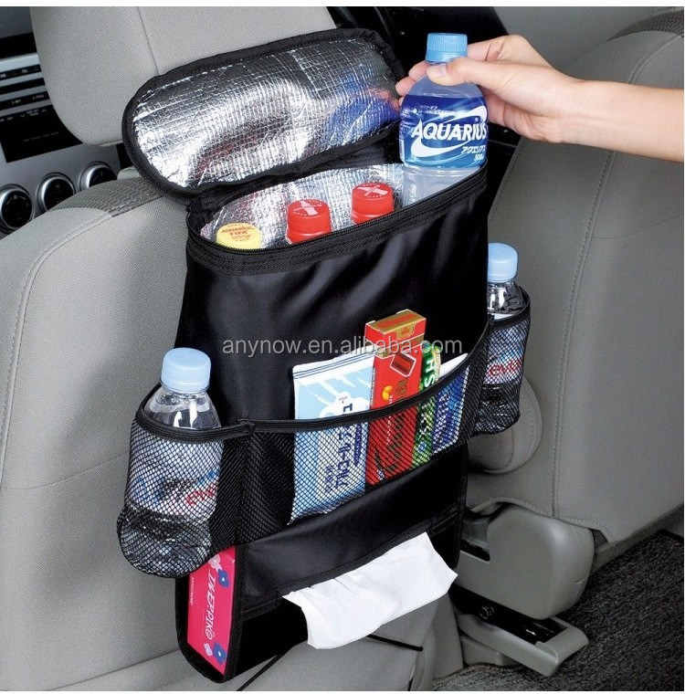 Oxford cloth black cooler car chair back seat backpack pocket bag organizer