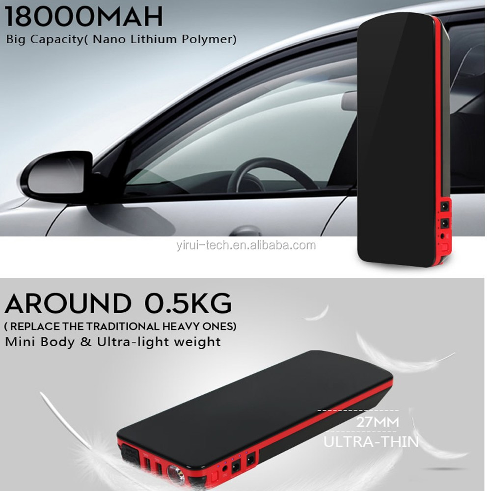 18000mAh Eor12V Car Jump Starter For Petrol & Diesel Vehicles jump starter power bank