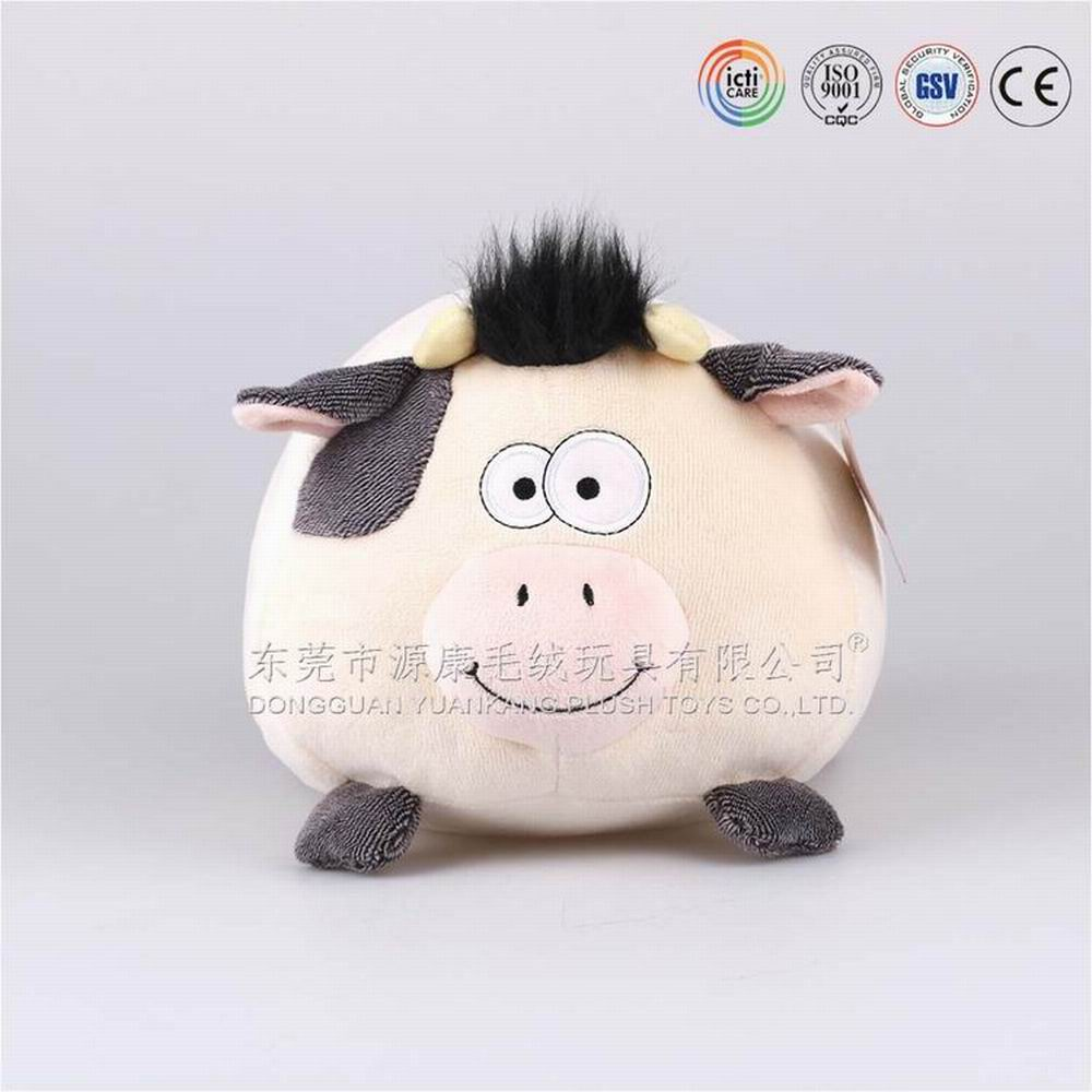 ODM product Q version plush <strong>animal</strong> series soft stuffed cute cow toy