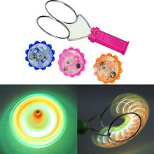 Colorful rainbow Led flashing Light-up magnetic gyro Wheel