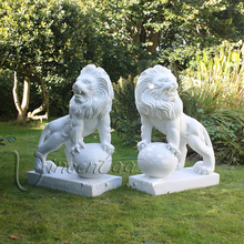 2017 high quality stone carvings marble garden sculptures lion