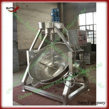 Hydraulic tilting jacketed pot