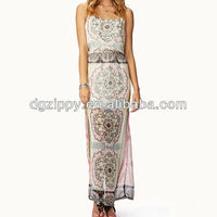 2013 New design Fashion Lady Cheap Summer Maxi Boho Dress(ZP-D3103)