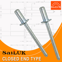 Zinc Plated Steel Closed End Type Blind Rivet