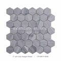 Century Mosaic Latin Grey 2'' Hexagon Grey Color Shower Floor Mesh Backed Mosaic Tiles