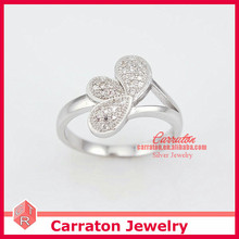 Silver CZ Jewelry Wholesale Cute Design Girls Ring