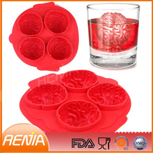 RENJIA safe hot sell silicone ice cube tray fred & friends stone cold ice trays form of ice silicone