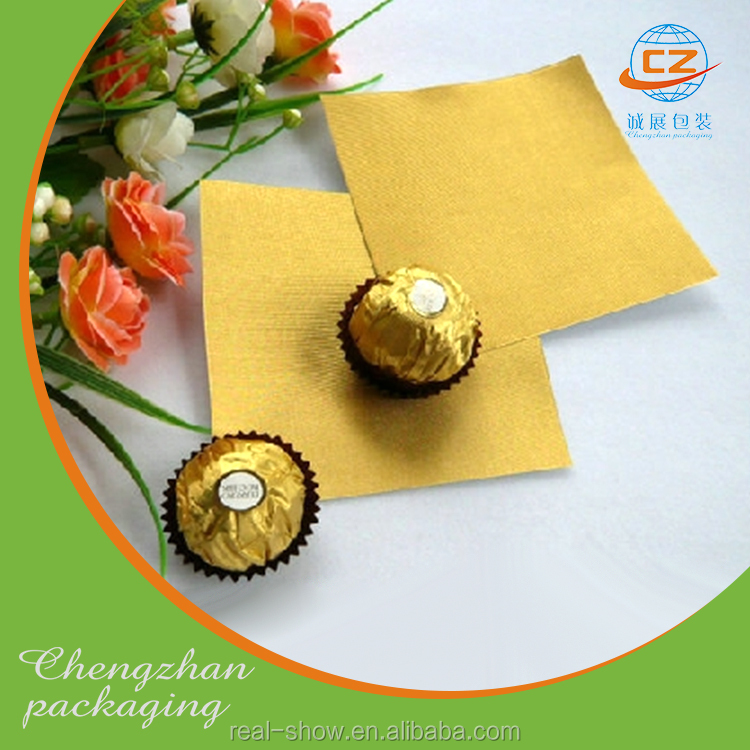 Various color coated 1235 aluminum chocolate/candy foil wrapper with good quality