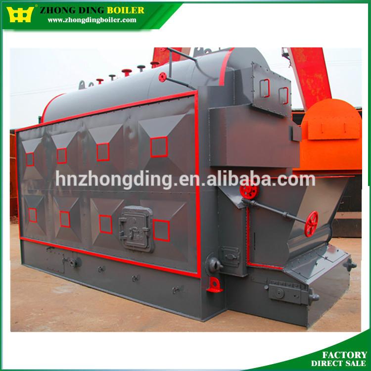 Horizontal Water and Fire Tube Paper mill flake type chain grate stoker