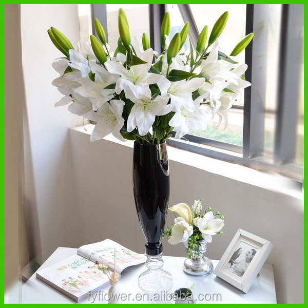 Fashionable stylish green flowers artificial lily