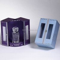 Paper display packing PVC window perfume box
