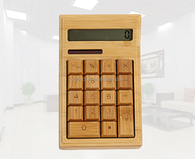 Beauty Special Bamboo Solar Desktop Calculator